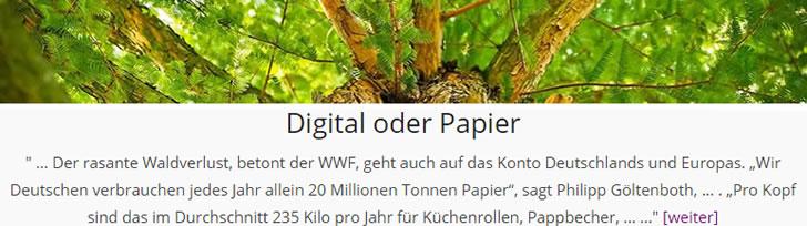 digital oder Papier
